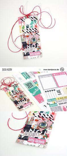 Mixed Media Tag | mit dem Juli Memory Notebook Kit | von Julia Klein für www.danipeuss.de