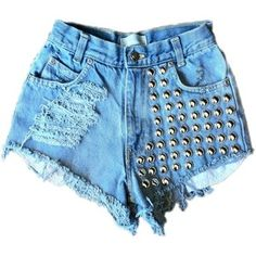 Vintage studded cut off shorts
