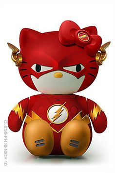 """Hello Kitty Cosplay as the """"Flash"""" Little Twin Stars, Sanrio, Hello Kitty Characters, Sweet Station, Kitty Images, Hello Kitty Collection, Geek Art, The Flash, Little Pony"""