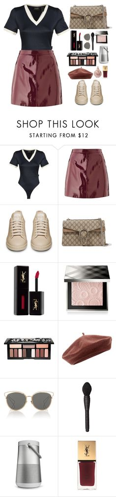 """Untitled #513"" by emmeleialouca on Polyvore featuring Puma, Miss Selfridge, Gucci, Yves Saint Laurent, Burberry, Kat Von D, Accessorize, Christian Dior, NARS Cosmetics and Bose"