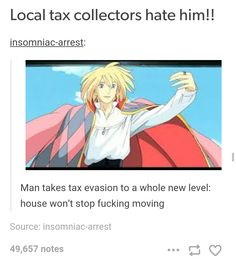 Local tax collectors hate him! Man takes tax evasion to a whole new level: house won't stop fucking moving - iFunny :) Studio Ghibli Art, Studio Ghibli Movies, Howels Moving Castle, Howl Pendragon, Howl And Sophie, Funny Memes, Hilarious, Fandoms, Wow Art