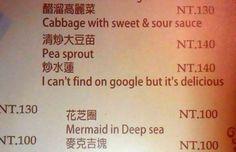 18 grappige vertaalfoutjes op Aziatische menukaarten
