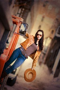 """""""Urban Cowgirl"""" What a fun shoot this must have been, take a look and you be the judge"""