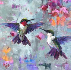 "Daily Paintworks - ""Flight"" - Original Fine Art for Sale - © Krista Eaton Bird Painting Acrylic, Hummingbird Painting, Watercolor Paintings, Oil Paintings, Bird Artwork, Animal Paintings, Flower Art, Art Projects, Art Drawings"