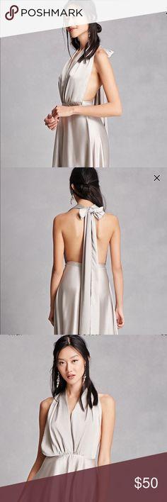 Silver backless long dress Silver backless long dress Forever 21 Dresses Backless