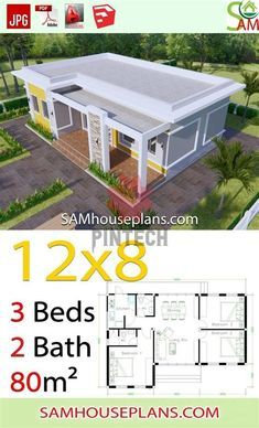 House Outer Design, Simple House Design, House Front Design, Little House Plans, Small House Plans, Village House Design, Bungalow House Design, Affordable House Plans, Flat Roof House