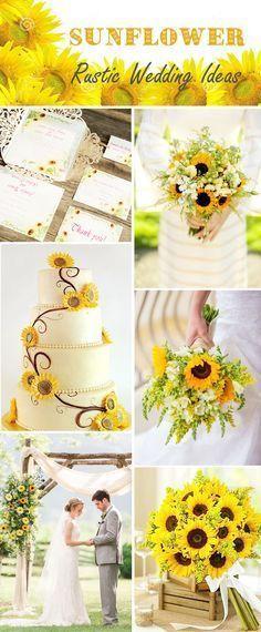 sunflower rustic wedding ideas and sunflower laser cut wedding invitations