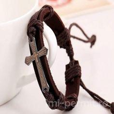 New Black Brown Charm Bracelets For Men Cheap Pulseira Masculina Simple Cross Leather Bracelet Silicone Rubber Bands Bileklik Bracelets For Men, Fashion Bracelets, Bangle Bracelets, Bangles, Leather Bracelets, Cross Bracelets, Cross Jewelry, Bracelet Silicone, Vintage Jewelry