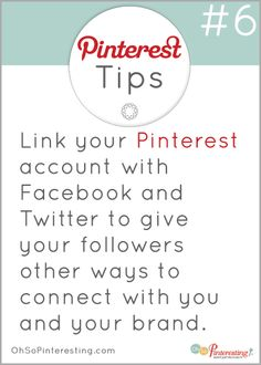 6b69bbad83c Pinterest Tip  Communication is somewhat limited on Pinterest. Make it easy  and comfortable for. Facebook MarketingSocial Media ...