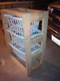 knock off wood Laundry  Basket dresser