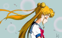 A drawing of Bunny, Sailor Moon. Disegno
