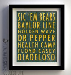 Framed Baylor memories