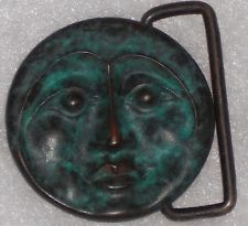 Owsley Buckle original 1995 bronze moon, with signature