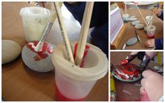 An invitation to paint kowhaiwhai patterns on kohatu. Play Based Learning, Reggio Emilia, Preschool Art, Creative Kids, Teaching Ideas, Encouragement, Charlotte, Creativity, Environment
