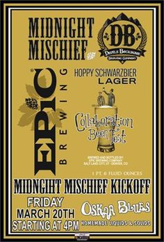 mybeerbuzz.com - Bringing Good Beers & Good People Together...: Epic Brewing / Devils Backbone - Midnight Mischief...
