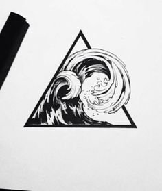 Wave tattoo design by @ tattooist_doy