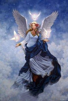 Mini Card Reading For Today: Archangel Haniel ~ Moon Cycles Angels Among Us, Angels And Demons, Archangel Haniel, I Believe In Angels, Angel Pictures, Angel Images, Angel Cards, Angels In Heaven, Heavenly Angels