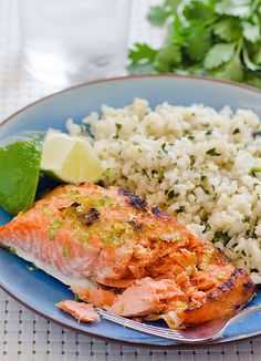 ... seafood dinner. Serve with Cilantro Coconut Brown Rice from the blog