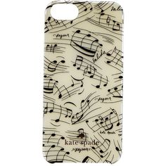 Kate Spade New York Music Notes Jewel Resin Phone Case for iPhone® 5... found on Polyvore