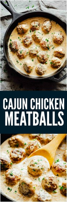 Creamy Cajun Chicken Meatballs are soft, juicy chicken meatballs slathered in a creamy gravy flavoured with cajun seasoning. This one-pot recipe is the perfect dinner option!
