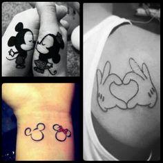 Disney lovers/ Disney tattoo/ Mickey and Minnie Mouse tattoos