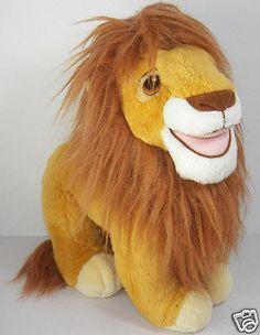 1993 Disney Mattel Lion King Mufasa Plush Animal