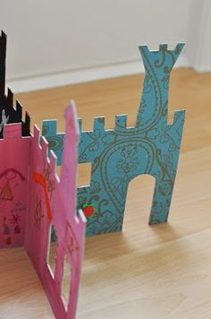 castle playset - for those with small hands, big imaginations, and little storage space.