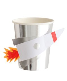 Set of 8 cups Paper tall diameter Paper rocket detail Some assembly required Paper Rockets, Party Suppliers, Party Cups, Party Tableware, Craft Party, Birthday Bash, Paper Plates, Party Time, Craft Supplies