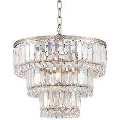 "Magnificence Satin Nickel 14 1/4"" Wide Crystal Chandelier - #6D503 | www.lampsplus.com"