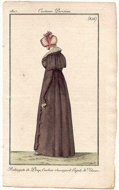 Redingote de drap 1807 Costume parisien