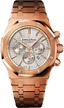 Audemars Piguet Royal Oak Chronograph Automatic 18 kt Rose Gold Mens Watch 26320OR.OO.1220OR.02