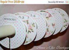 Baby Closet Dividers Floral Closet Dividers Closet! These baby girl vintage closet dividers are the cutest way to keep your little girl's clothes organized.