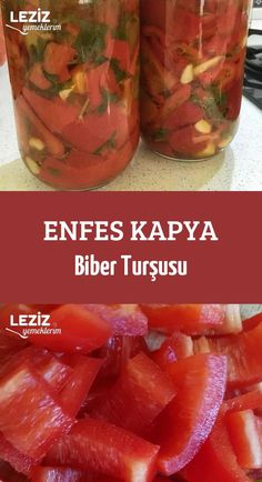 Delicious Kapya Pepper Pickles – My Delicious Food - Obst Healthy Eating Tips, Healthy Nutrition, Healthy Snacks, Beste Burger, Turkish Kitchen, Health Care Reform, Yummy Food, Tasty, Vegetable Drinks
