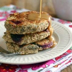 Cherry-Oat Pancakes recipe