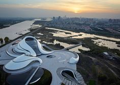 The Harbin Opera House, a major new arts complex among the wetlands in north-east China #architecture #bwfurniture