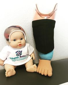 Happy Friday! A tiny prosthesis with toes for one of our favorite little patients. FYI the baby doll is not the patient. #tgif #prosthetics #oandp #lasvegas #teamomi