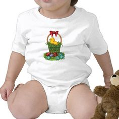 Cute Easter Chicken Infant Creeper   $17.75 #baby #creeper #cute #easter