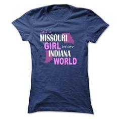 I Love Missouri girl in Indiana Shirts & Tees