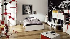 Balck And White Design Bedroom Image Wallpapers Boys