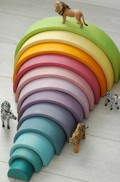 WOLF + FRIENDS — Imaginative Play: Grimm's Pastel Rainbow