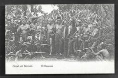 Ot Danoem Danum Dayak Warriors Borneo Indonesia ca 1906