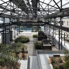 Foundries' Garden by ADH Doazan+Hirschberger « Landscape Architecture Platform Landscape And Urbanism, Landscape Design, Medan, Factory Architecture, Urban Intervention, Covered Garden, Industrial Architecture, Urban Industrial, Green Park