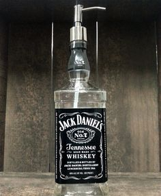 Jack Daniels Soap Dispenser - Made from Recycled Bottles via Etsy