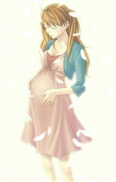 pregnant anime girl