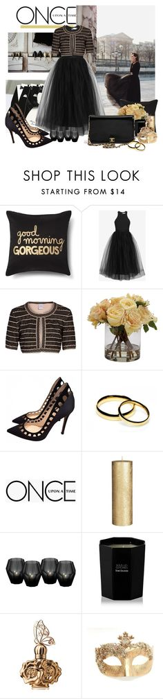 """Untitled #448"" by moni4e ❤ liked on Polyvore featuring Xhilaration, Elizabeth and James, Hervé Léger, Ethan Allen, Gianvito Rossi, Chanel, Once Upon a Time, John Lewis, Eichholtz and Tom Daxon"