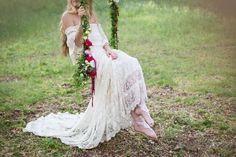 floral boho swing