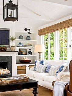 Stunning Blue & White living room!