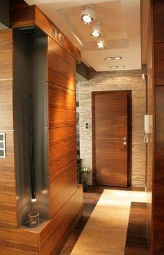 nowoczesny przedpokój Hallway Designs, False Ceiling Design, Decoration, Entrance, House Plans, Entryway, Room Decor, House Design, Living Room