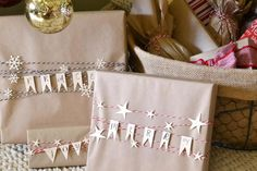 DIY Make Paper Flags with Holiday Sayings - Darby Smart