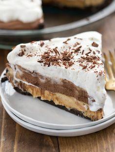 No Bake Peanut Butter Chocolate Cream Pie